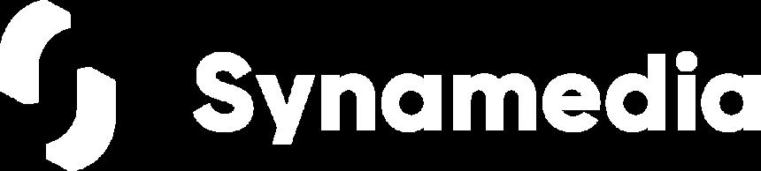 Synamedia white logo